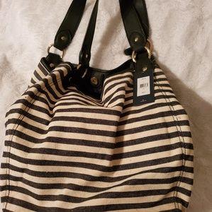 Tommy Hilfiger canvas bucket purse